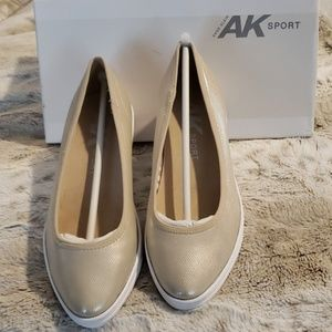 NWB&T - Anne Klein Sport Gold Slip On Shoes